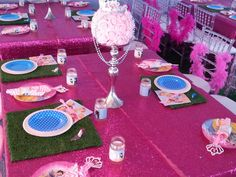 Princess themed table setting