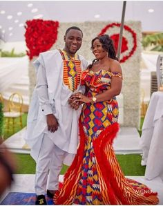 afrikanische hochzeiten 40 Gorgeous Wedding Dress Styles For Your African Traditional Wedding - The Glossychic Long African Dresses, Latest African Fashion Dresses, African Print Fashion, African Wedding Attire, African Attire, African Traditional Wedding Dress, Traditional Wedding Attire, Traditional Weddings, Couples African Outfits