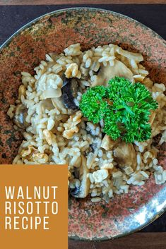 Vegan mushroom risotto. #recipes #mushroom #veganrecipes #healthyliving #happyfamily