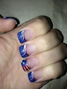 Cheer on your favorite olympic team with nail art silver nail patriotic tips easy diy of july nail art designs for short nails solutioingenieria Gallery