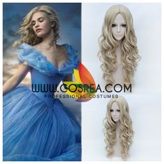 Wig Detail Disney Cinderella 2015 Cosplay Wig Includes: Wig, Hair Net Important Information: Fitting - Maximum circumference of 55-60CM Material - Heat Resistant Fiber Style - Comes pre-style as shown