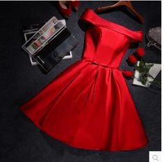 Beautiful satin short prom dress,homecoming dress,bridesmaid dress