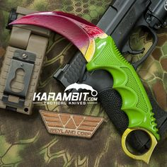 Painted Honshu Toxic Rainbow Karambit - Karambit.com