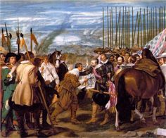 Baroque painting - Diego Velázquez, The surrender of Breda, oil on canvas, Museo del Prado, Madrid Caravaggio, Baroque Painting, Baroque Art, Spanish Painters, Spanish Artists, Art Du Temps, Diego Velazquez, Art Reproductions, Les Oeuvres