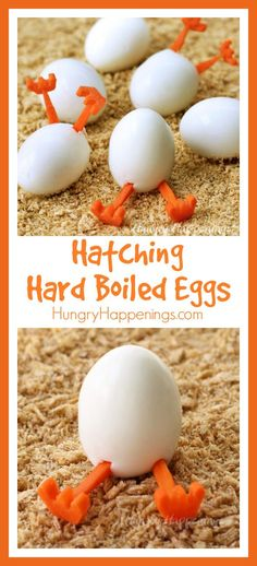 Want something fun to do with all those hard boiled eggs you have on hand this Easter? Create some hilarious Hatching Hard Boiled Eggs. Easter Snacks, Easter Appetizers, Easter Egg Crafts, Easter Recipes, Holiday Recipes, Easter Eggs, Easter Food, Easter Ideas, Easter Stuff