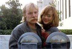 George Saunders and his wife, Paula, in 1986.