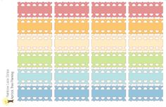 Lace Quarter Box Strips for your Happy Planner, Erin Condren Planner or Wall Calendar by apricottreeplanning on Etsy