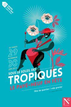 Tropical Poster by Agence de communication Graphéine , via Behance