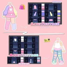 Manga Clothes, Drawing Anime Clothes, Cute Anime Character, Character Outfits, Club Outfits, Girl Outfits, Club Hairstyles, Clothing Sketches, Cute Anime Chibi