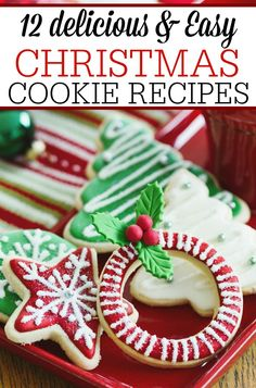 12 Christmas Cookie Recipes via @juliefrugally