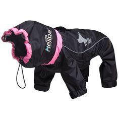 Medium Black Weather-King Ultimate Windproof Full Bodied Pet Jacket