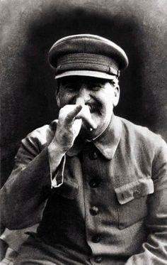 Stalin goofing around
