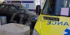 """Τραγελαφικό στο Νοσοκομείο Λ/σίας: Αστυνομικός """"γράφει"""" ασθενοφόρο στο χώρο στάθμευσης ασθενοφόρων (Φωτογραφίες)"""