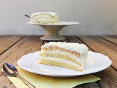 Live to Bake: Kokosová torta Vanilla Cake, Sweets, Baking, Coconut Cakes, Desserts, Live, Food, Tailgate Desserts, Deserts