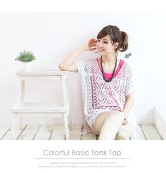 ccd5a73c00693 netstar  ◎-SPECIAL PRICE-◎ choice cm   basic colorful tank top - Purchase  now to accumulate reedemable points!
