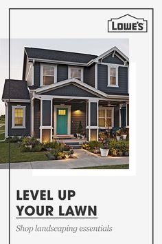 Level up your lawn with gardening and landscaping essentials from Lowe's. Shop bagged mulch, seeds, tools and so much more. Exterior Paint Colors For House, Paint Colors For Home, Exterior Colors, Exterior Design, House Siding, House Painting, Future House, Home Remodeling, House Plans