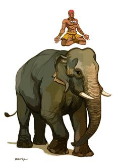 Tribute to Dhalsim and to the Indian elephant.