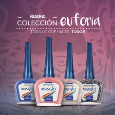 Coleccion Euforia #SoyMasglo #Masglo #MasgloLOVERS #ColeccionEuforia #NailPolish Tips Belleza, Cute Nails, Nail Designs, Food And Drink, Nail Polish, Make Up, Nail Art, Cat, World