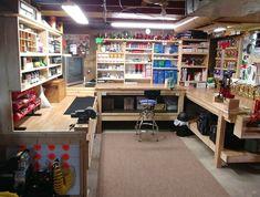 garage garage The post garage appeared first on Werkstatt ideen. Garage Workshop Plans, Garage Workshop Organization, Storage Shed Organization, Basement Workshop, Garage Tool Storage, Workshop Layout, Workshop Storage, Garage Tools, Home Workshop