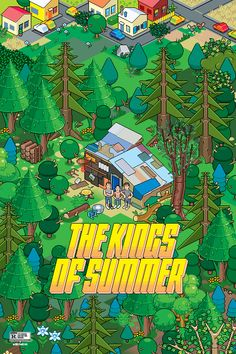 The Kings of Summer Poster by eBoy