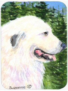 Great Pyrenees Glass Cutting Board Large