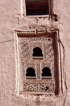 Intricate doors and windows adorn the mud houses of Shibam (Yemen)