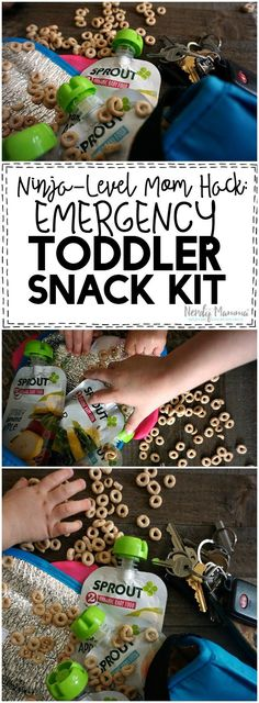 I love this Ninja-Level Mom Hack! Such a simple idea for a Snack Kit for a Toddler on-the-go!