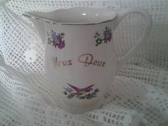 Vintage French...Nous Deux...milk jug...White by cheztoietmoi