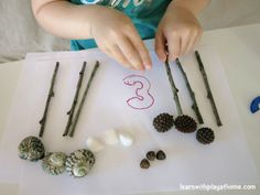 An Invitation to Play and Learn with Numbers and Natural Materials