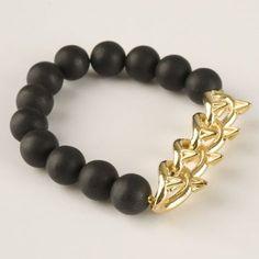 Spike Onyx bracelet