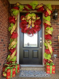Christmas Deco Mesh Garland and Wreath
