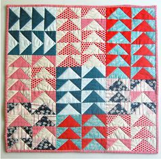 Purl Bee Mini Quilt of the Month, Flying Geese Quilt