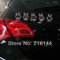 Cartoon Car Styling Ford Stickers Funny Rabbit Truze Dancing family sticker for Car Rear window,car accessories $6.82 - 8.92