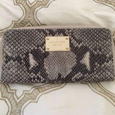 Michael Kors Phython Wallet Michael Kors Phython Wallet. Like New. Michael Kors Bags Wallets