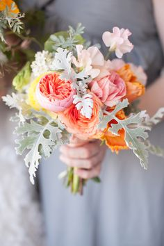 summer bouquet, photo by She Wanders Photography http://ruffledblog.com/del-mar-powerhouse-wedding #flowers #weddingbouquet