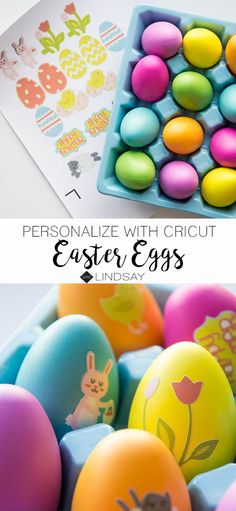 Create customized Easter Eggs using your Cricut Explore and the Print Then Cut Method