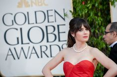 """Nominated for BEST PERFORMANCE BY AN ACTRESS IN A TELEVISION SERIES – COMEDY OR MUSICAL for her role in """"NEW GIRL"""", actress Zooey Deschanel attends the 70th Annual Golden Globe Awards at the Beverly Hilton in Beverly Hills, CA on Sunday, January 13, 2013."""