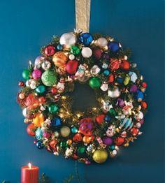 DIY Wreath   Christmas Ornament Wreath   Christmas Crafts — Country Woman Magazine