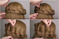 Check out these big loop braids that are sure toget you compliments all day.  The technique essentially involves creating a loop with one small strand of hair. Then by reaching through that initial loop and pulling half-way through a new small section of hair, and flipping it upside down to creat