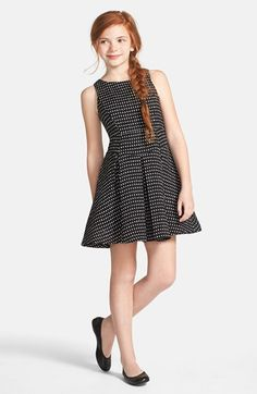 Milly Minis Dot Tweed Sleeveless Dress