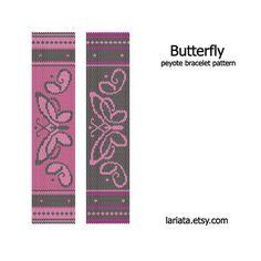 Butterfly  Peyote Bracelet Pattern  INSTANT DOWNLOAD par lariata