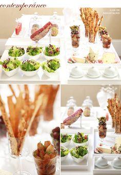 Casamento buffet festa - Ilha de degustação (Foto: Rogerio Voltan)