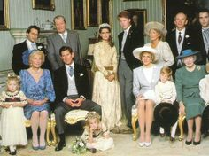 September 17, 1989: The Wales family attend the wedding of Diana's brother's, Charles Spencer.