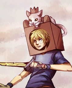 animecorecollection:  A Box Prince and his knight by SimonAdventure