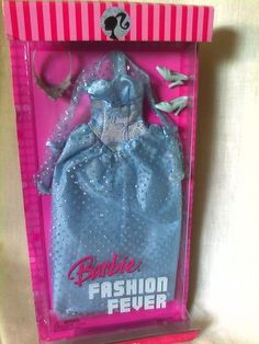 2007 Fashion Fever Barbie Doll Dress Gown Outfit New   eBay