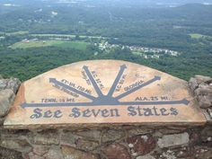 See seven states from Rock City in Chattanooga, TN