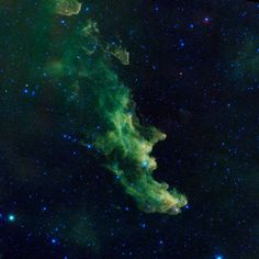 A witch appears to be screaming out into space in this new image of the Witch Head nebula from NASA's Wide-Field Infrared Survey Explorer, or WISE, released on Halloween (Oct. 31, 2013). [Read the Full Story Behind this Photo Here]