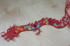 Paper dragon tutorial and template | the adventures of tig & serena