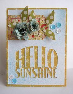 Samantha Walker's Imaginary World: Hello Sunshine card by Daniela Dobson