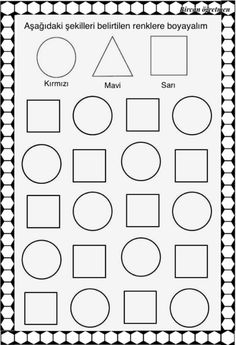 Shapes Worksheets, Math For Kids, Pre School, Diagram, Activities, Art, Early Education, School, Early Childhood Education